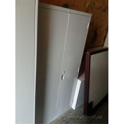 used locking metal storage cabinet waymark beige heavy duty 2 door metal storage cabinet