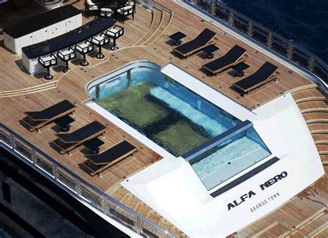 Alfa Nero Yacht Interior by Yacht Alfa Nero Luxury Yacht Charter