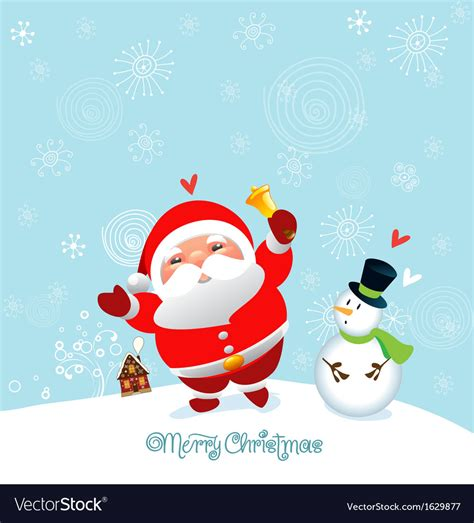 funny  cute christmas card  happy  year vector image