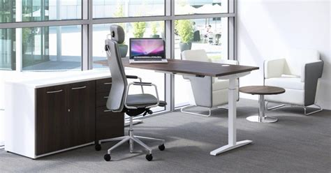 Used Sit Stand Desk Height Adjustable Desks New Used Office Furniture Glasgow Scotland