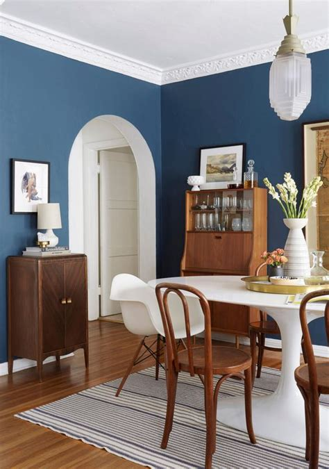 decoracion de comedores  color azul decoracion de