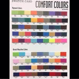 comfort colors chart the world s catalog of ideas