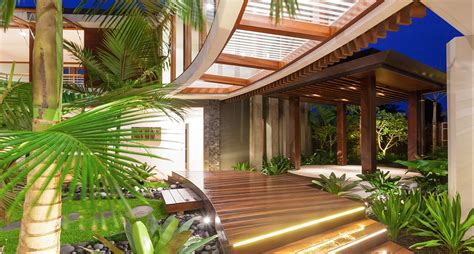 Courtyard Style House Plans by Tropical House Chris Clout Design