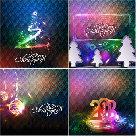 christmas neon light backgrounds vector free download