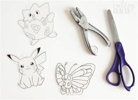 pokemon birthday party craft shrinky dink keychains