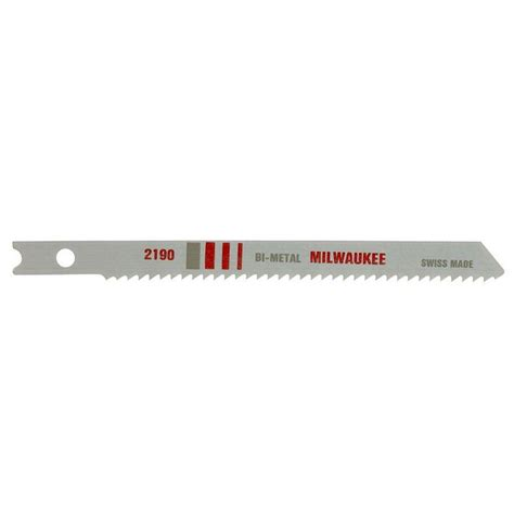 Blade U milwaukee 4 in 10 tpi u shank bi metal jig saw blade 48 42 2311 the home depot