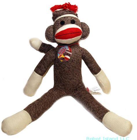 rag doll monkey schylling 20 quot heel sock monkey plush doll new