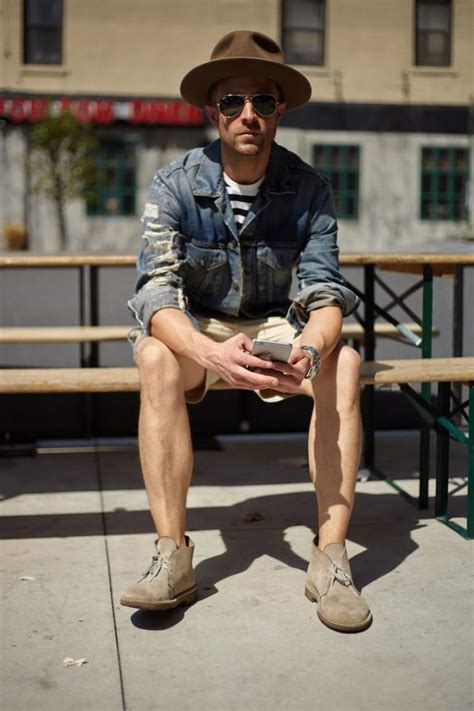 mens boots with shorts easy ways to wear s desert boots the idle
