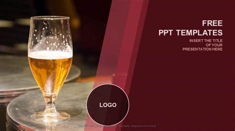 taste of beer food ppt templates