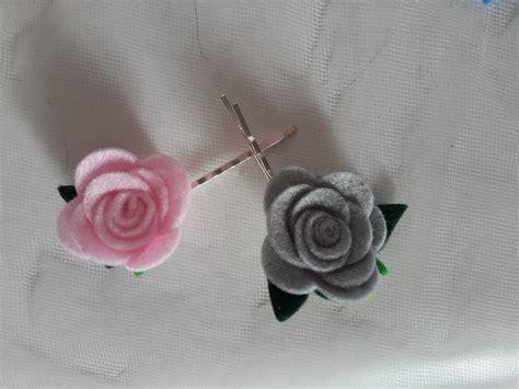 come fare fiori di feltro forcina con fiori di feltro fatti a mano donna