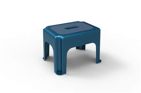 small step stool step iges 3d cad model grabcad