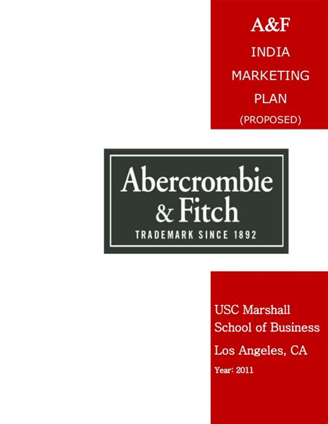 Linkedin Usc Marshall Mba Class Of 2019 by Abercrombie Fitch Market Entry In India Proposed Plan