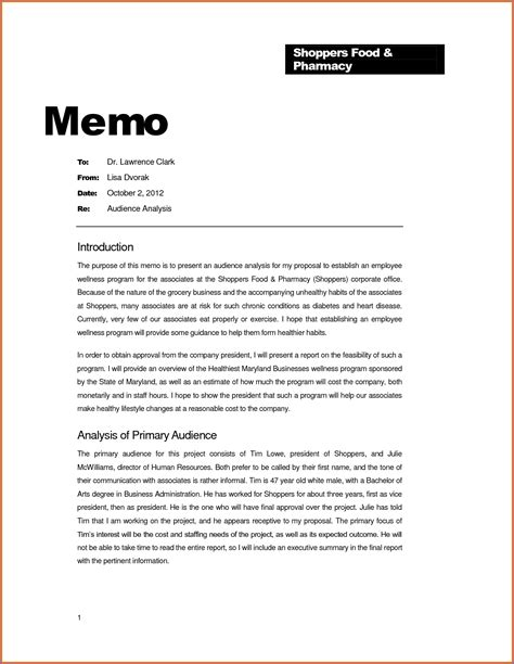template of a memo word memo template designproposalexle