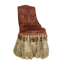 chair skirt bombay co majesty skirted vanity chair ebth