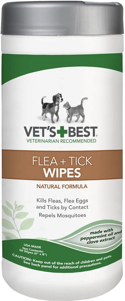 puppy wipes vet s best flea tick cat wipes 50 count chewy