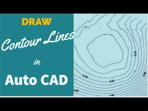 How To Draw Contour Lines In Autocad 2016
