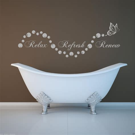 relax wall relax bathroom bubbles en suite wall sticker quote decal stencil transfer ebay