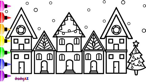 coloring house how to draw house for and house coloring page