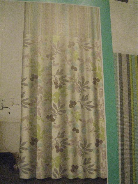waverly shower curtain waverly wind floral stripe green grey fabric shower