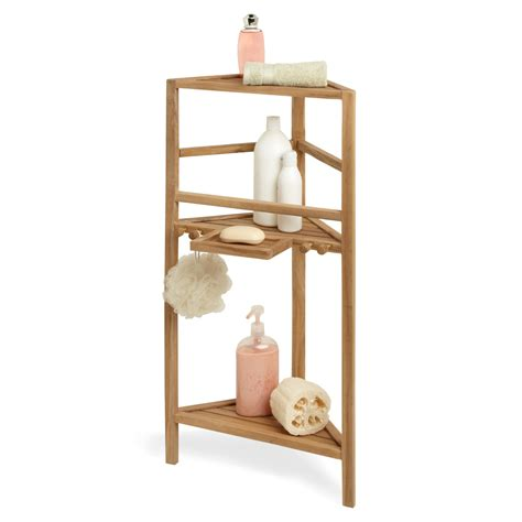 teak bathroom shelves 36 quot three tier teak corner bath shelf ebay