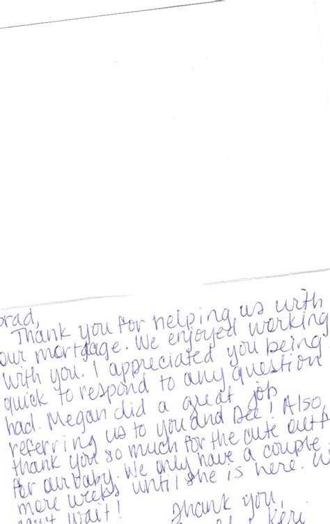 Loan Closing Thank You Letter What Other Say About Brad Lynch Your Mortgage