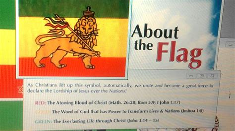 what does the color green in the bible s of judah flag gold green in