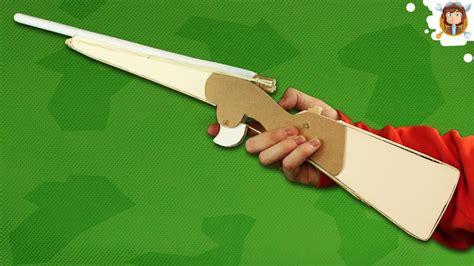 pistola en material reciclable como hacer una arma de papel que dispara rifle youtube