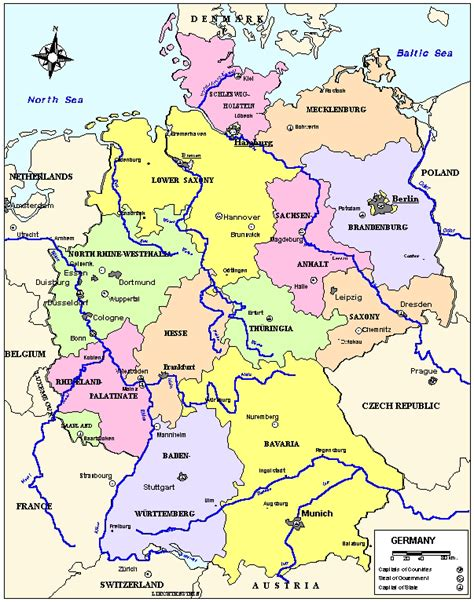 state map of germany maps germany