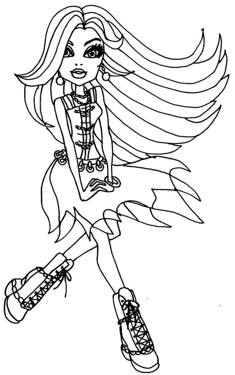 coloring pages monster high seguridadip co