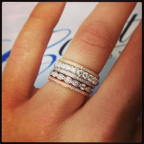 25 best ideas about stacked wedding bands on