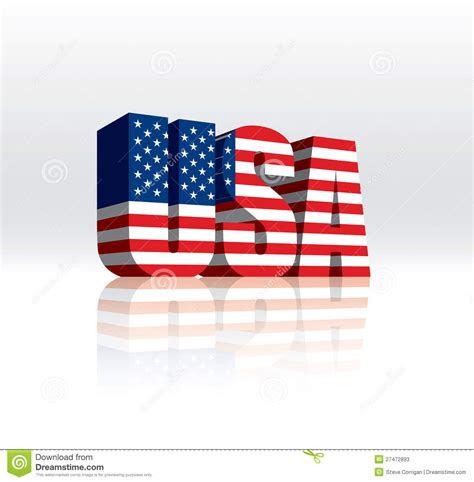 usa american vector word text flag stock  image