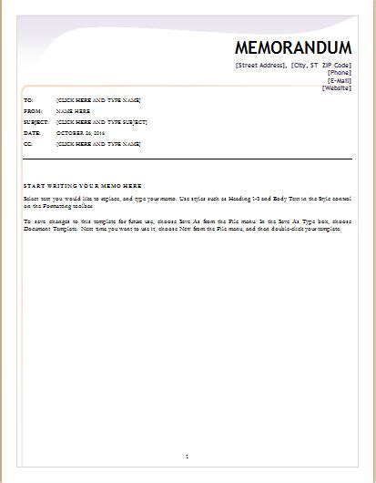 24 free editable memo templates for ms word word amp excel