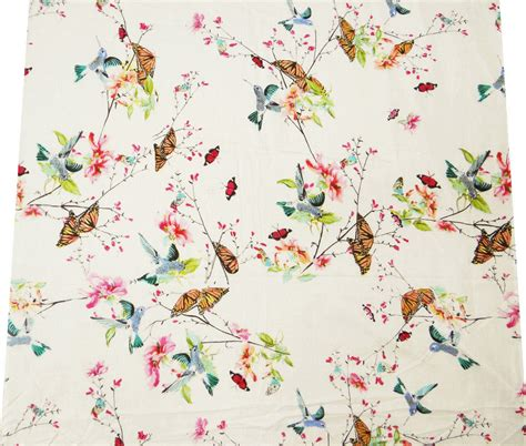 bird pattern fabric uk dressmaking bird pattern sewing cotton fabric 44 quot inches
