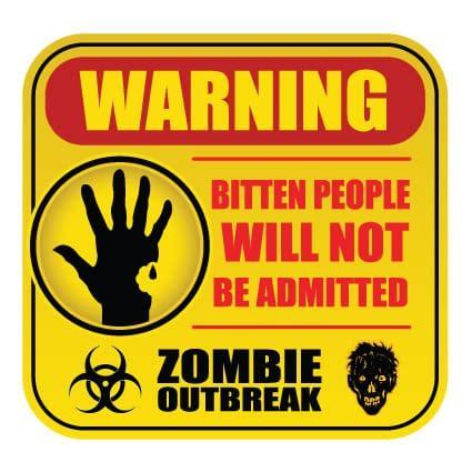 Auto Sticker Zombie by Zombie Sticker 1 Stickythings Nl