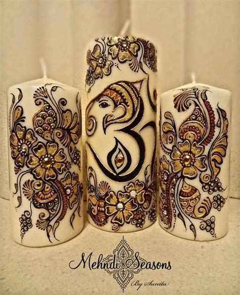 henna design gifts personalised henna candles makedes com
