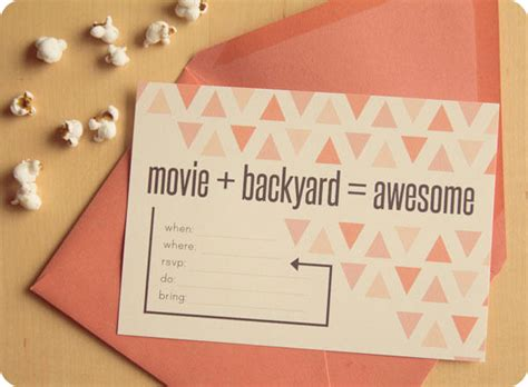 backyard movie night invitations backyard movie night printable invite lingering daydreams