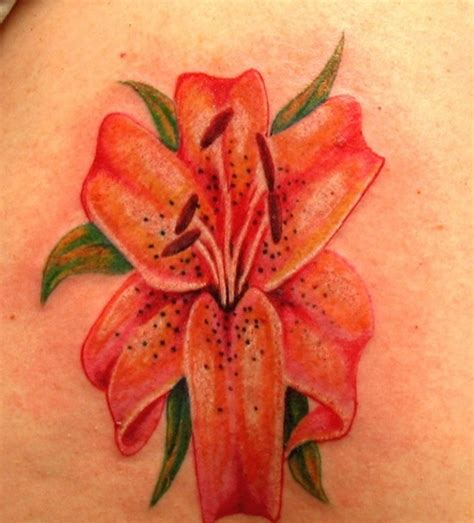 orange lily tattoo designs 25 amazing tiger designs