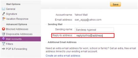 yahoo email reply to wrong address set different reply to address in gmail outlook com