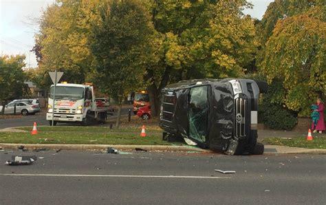 ballarat car crash car flips after crash in ballarat cbd the courier
