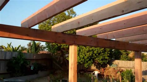 How To Build A Patio Cover by Backyard Patio Cover End Of Day 07 31 2011