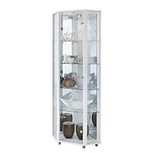 White Corner Display Cabinet Uk Corner Glass Display Cabinet Mirror Back 4 Shelves
