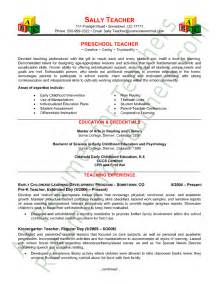 resume samples preschool teacher