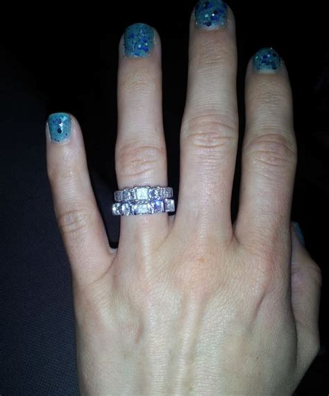show me your wedding band that is larger than