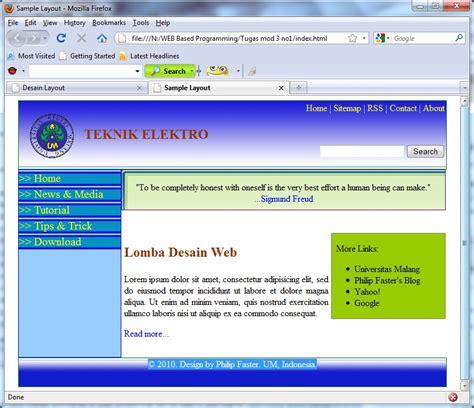 desain gambar website desain web simple menggunakan css this is my life