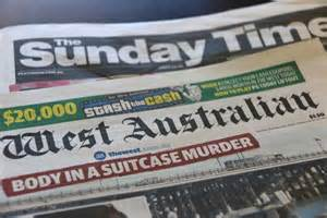 sunday news the west australian and the sunday times newspapers abc