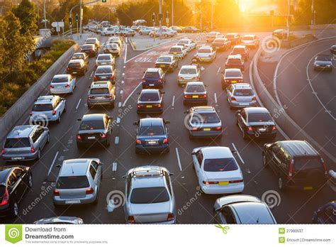 aerial view of cars in traffic
