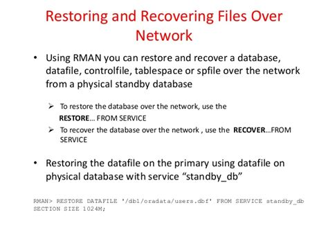 rman section size what s new in oracle 12c recovery manager rman