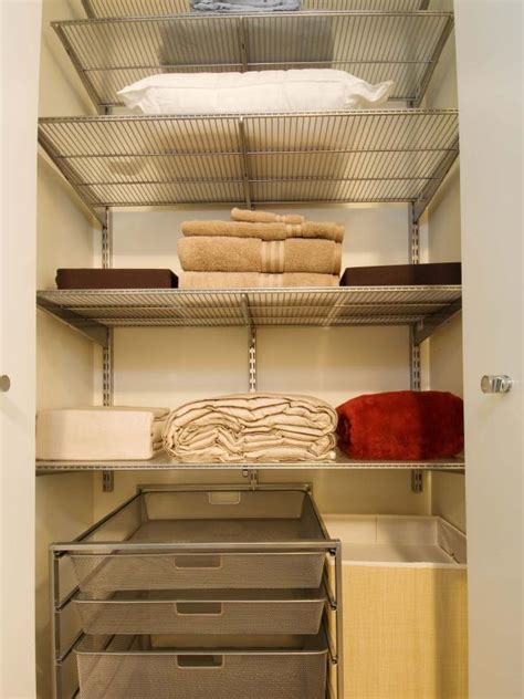 Linen Closet With by Organizing Your Linen Closet Hgtv