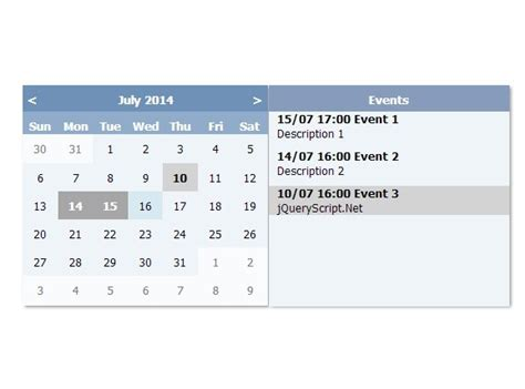 make an event calendar free create a simple event calendar with jquery e calendar