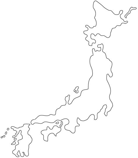 printable images of japan japan outline map